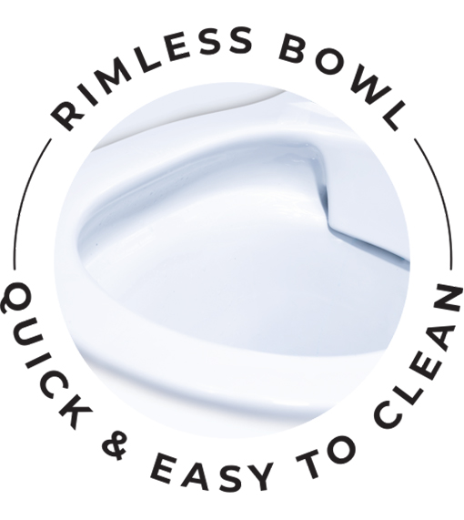 Cleanflush Rimless bowl